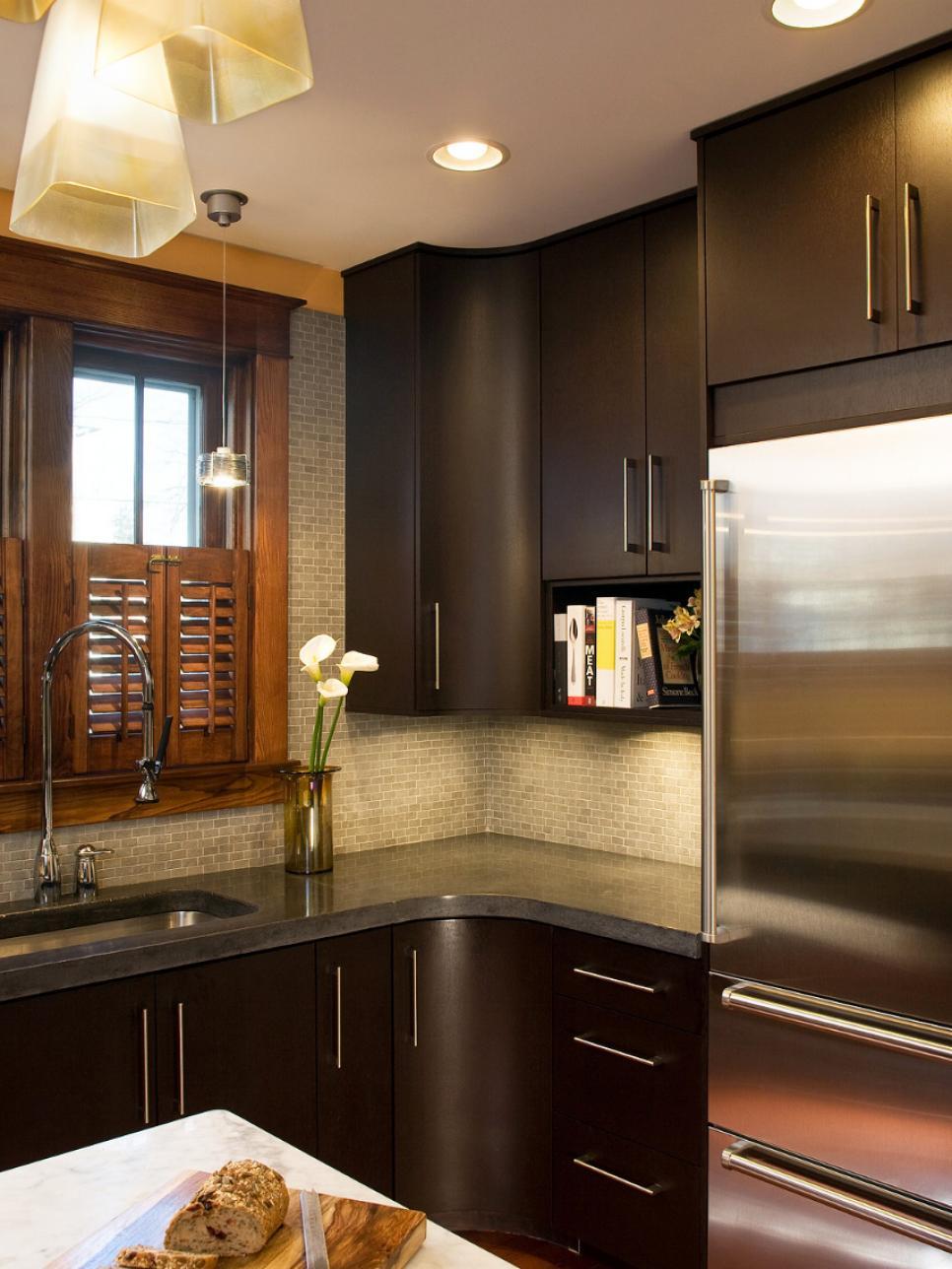 Add modern style to your kitchen hgtv for Modern kitchen designs india