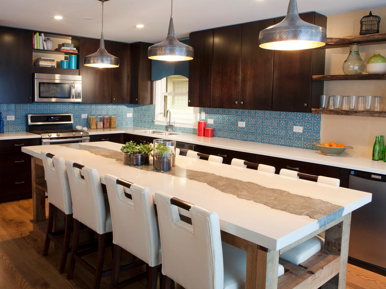 Kitchen island breakfast bar pictures ideas from hgtv for Big island kitchen design