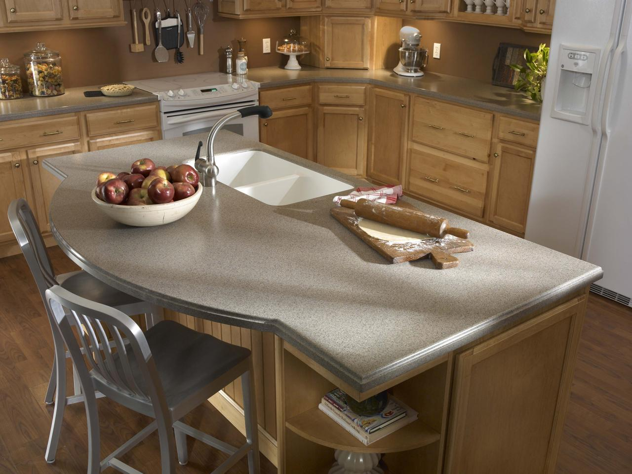 Bathroom Countertop Surface Options : Solid Surface Countertops for the Kitchen HGTV