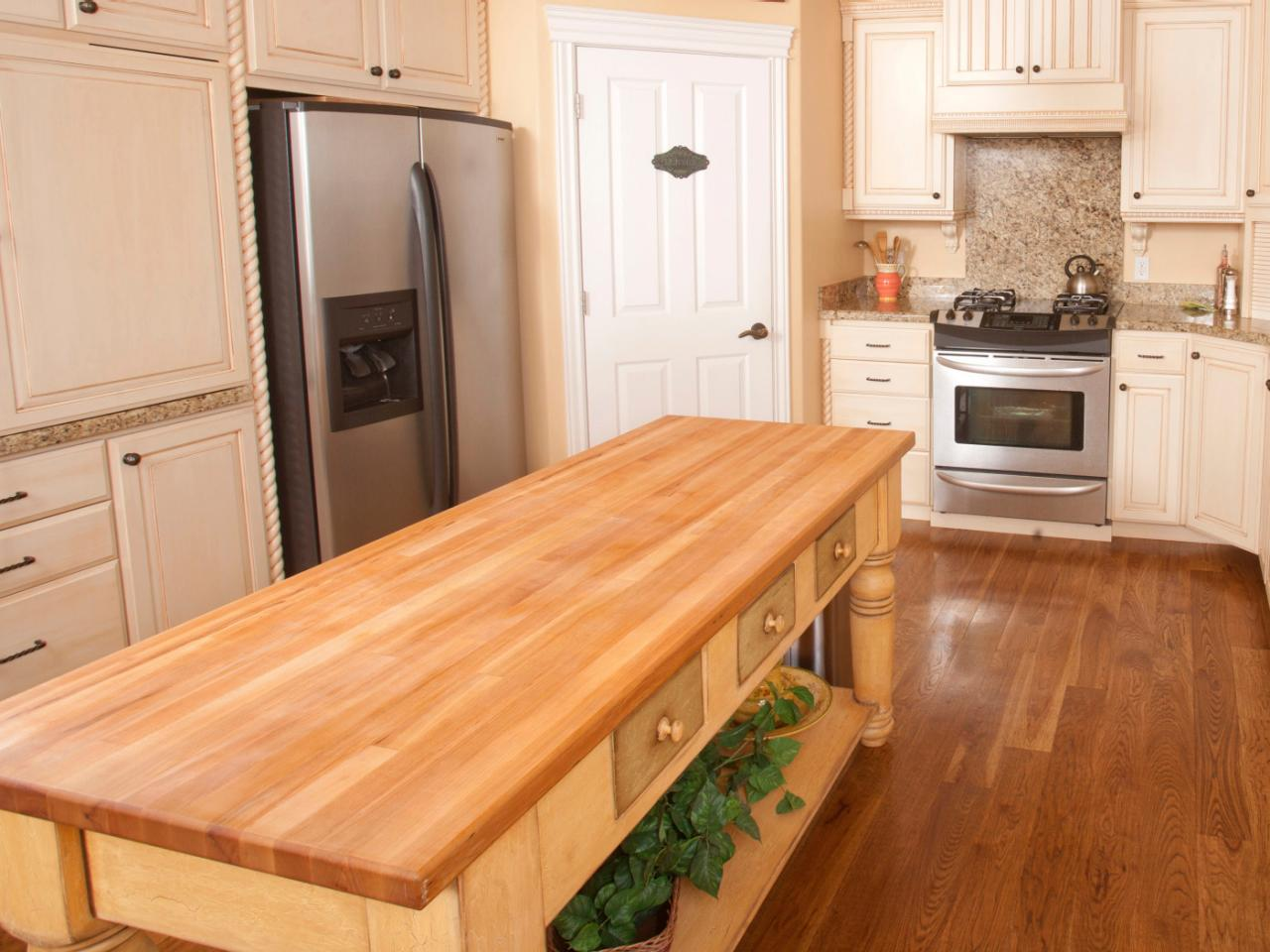 Butcher Block Red Kitchen Island : Butcher Block Kitchen Islands HGTV