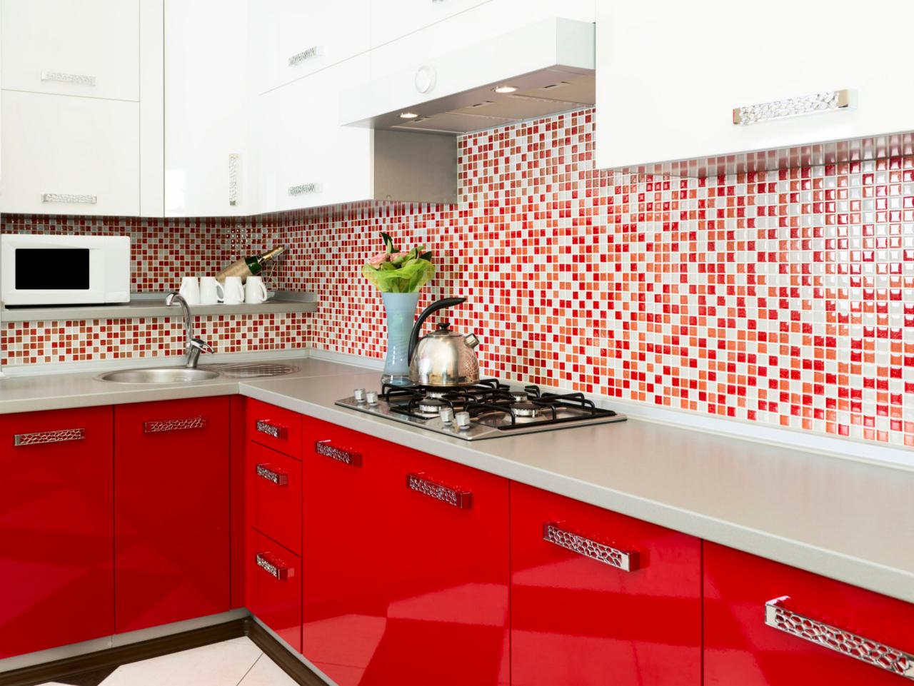 Red And White Kitchens Red Kitchens Design Tips Pictures Of Colorful Kitchens Hgtv
