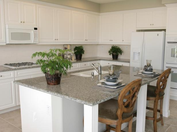 Neutral granite countertops hgtv for 3 4 inch granite countertops