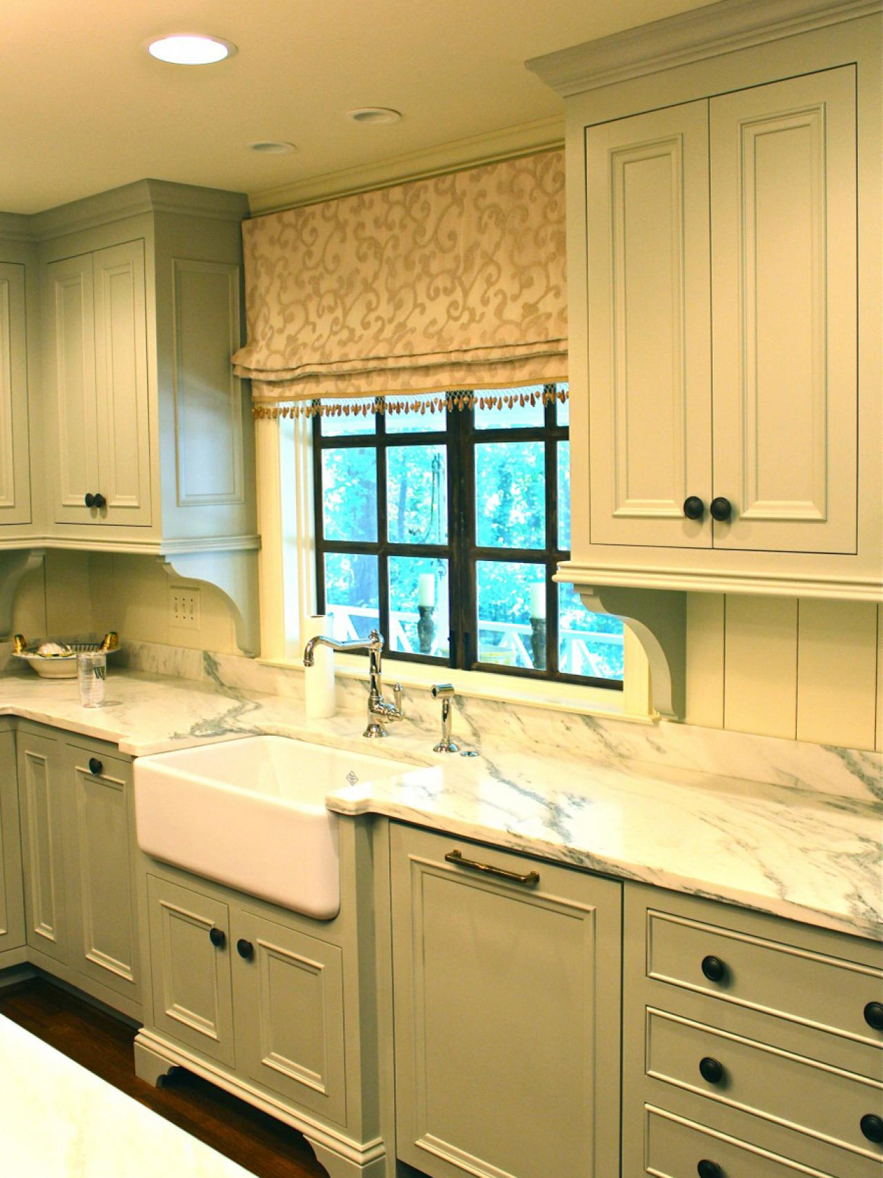 Cottage kitchens hgtv Kitchen design mixed cabinets