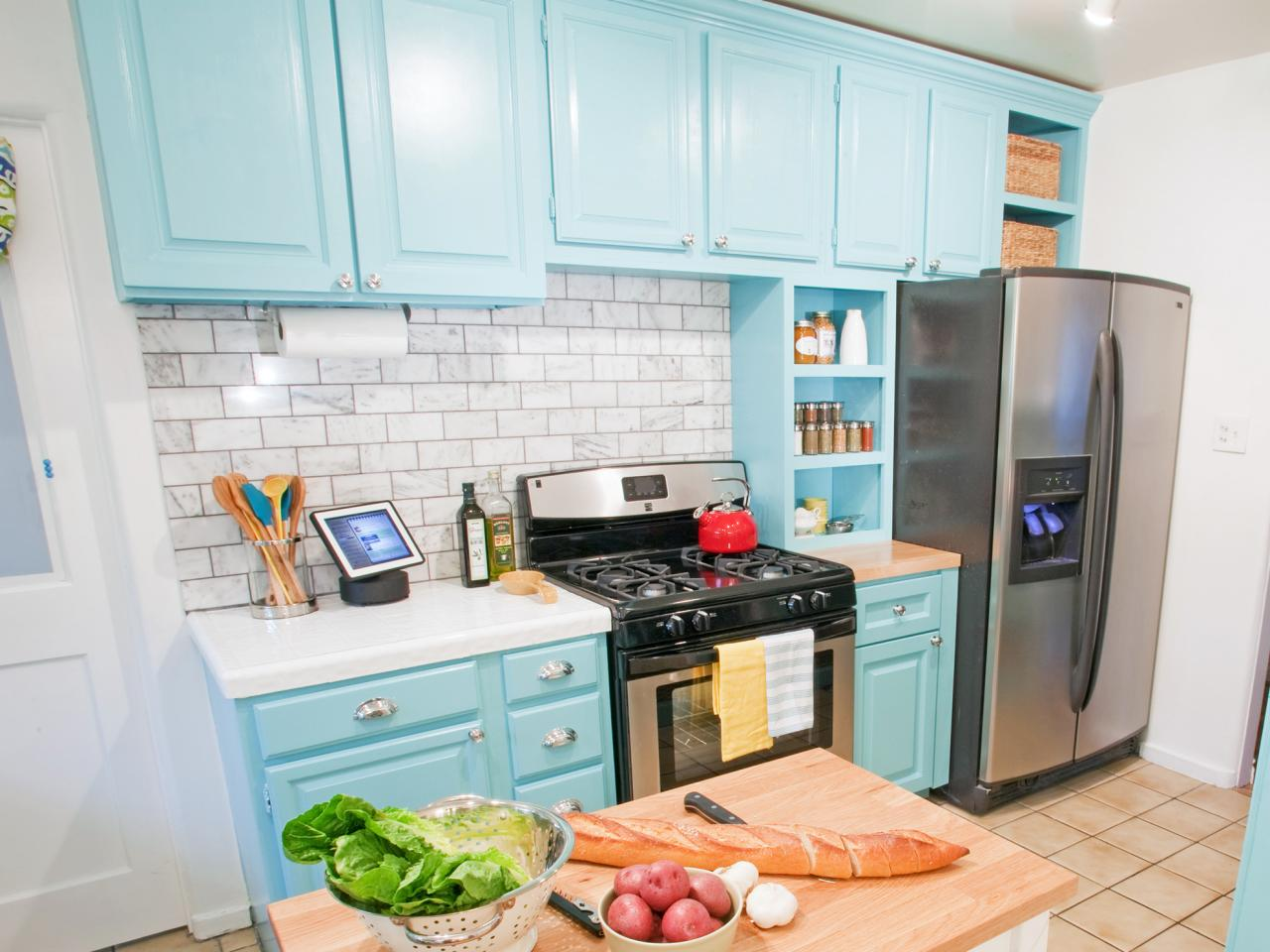 Colored Kitchen Cabinets kitchen cabinet colors and finishes: pictures, options, tips