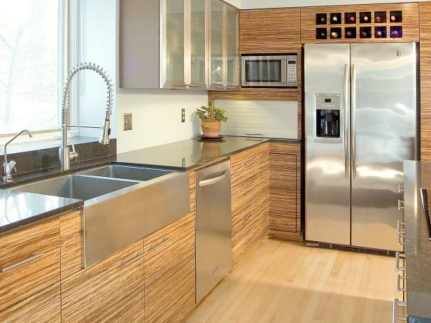contemporary kitchen with bamboo cabinetry this contemporary kitchen