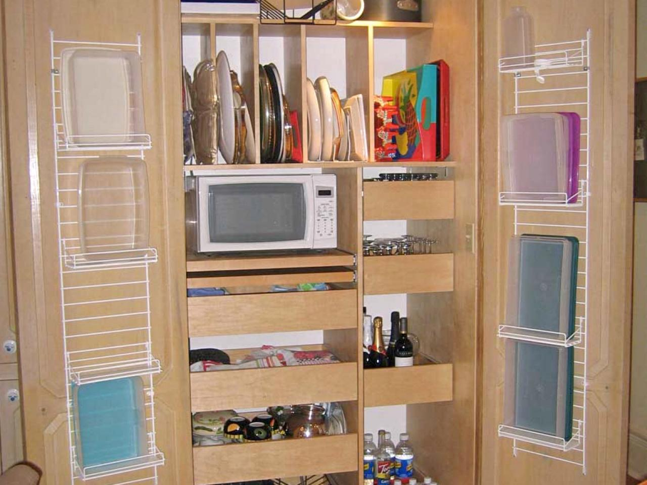 Pantry organizers pictures options tips ideas hgtv Kitchen storage cabinets for small spaces