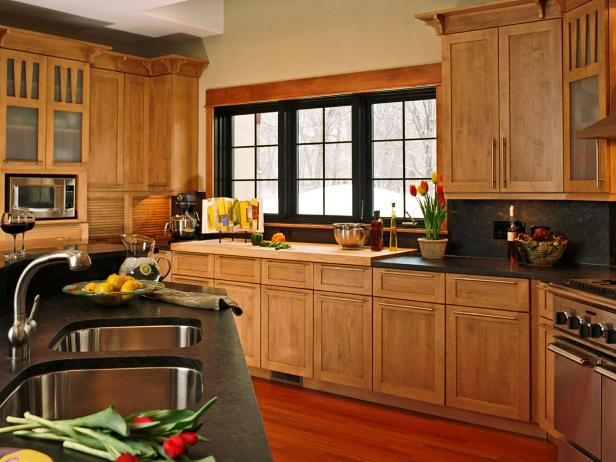 Contemporary Kitchen with Stock Cabinets
