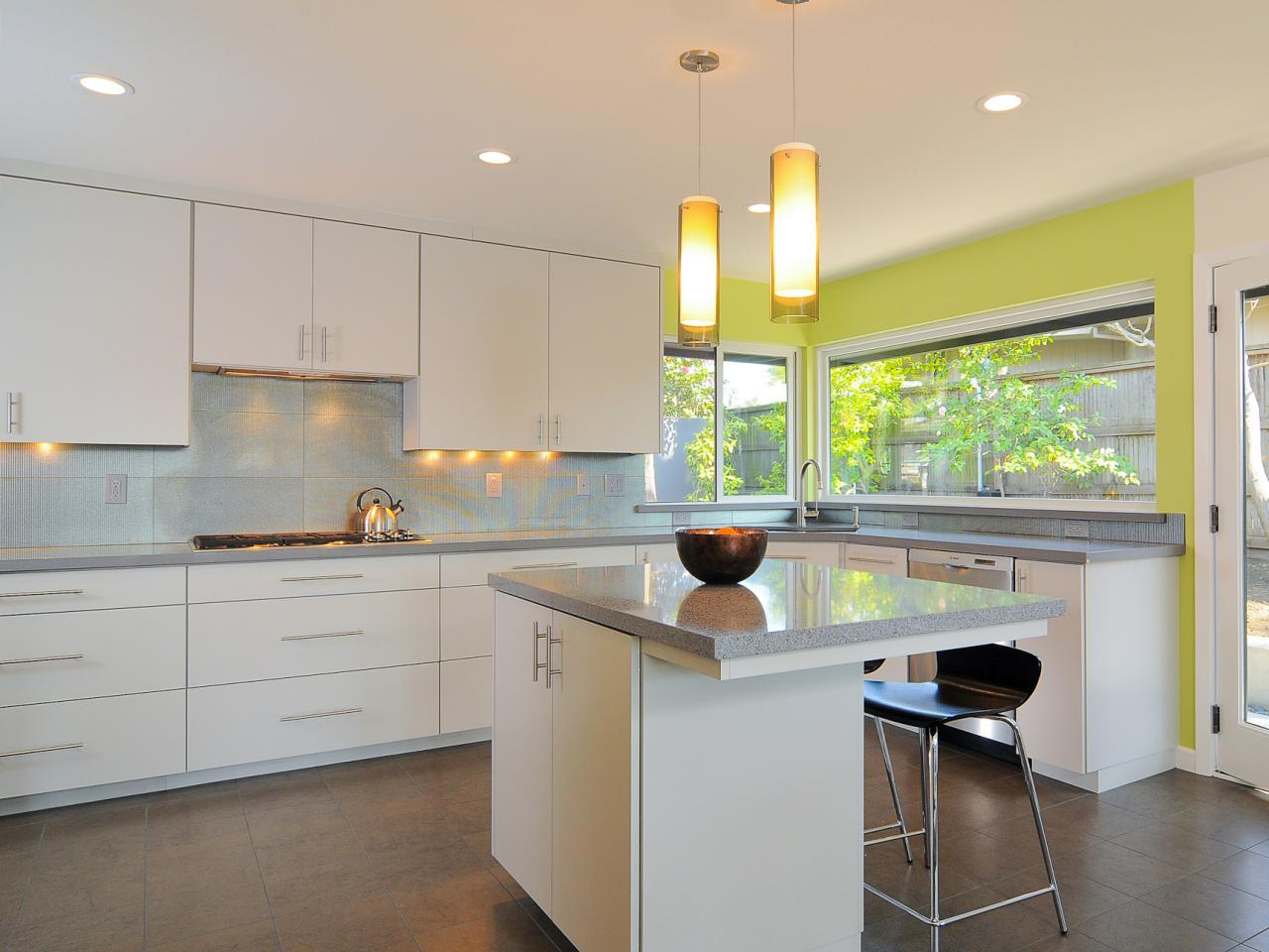 Modern White Kitchen Images kitchen cabinet colors and finishes: pictures, options, tips