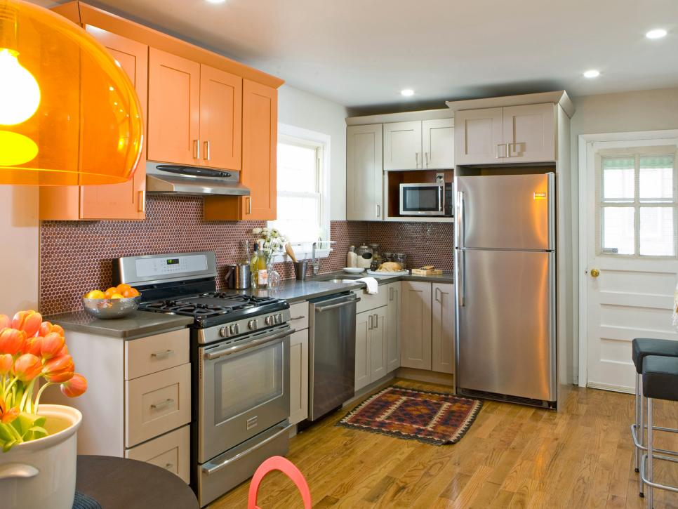 20 small kitchen makeovers by hgtv hosts hgtv - Cabinets For Small Kitchens Designs