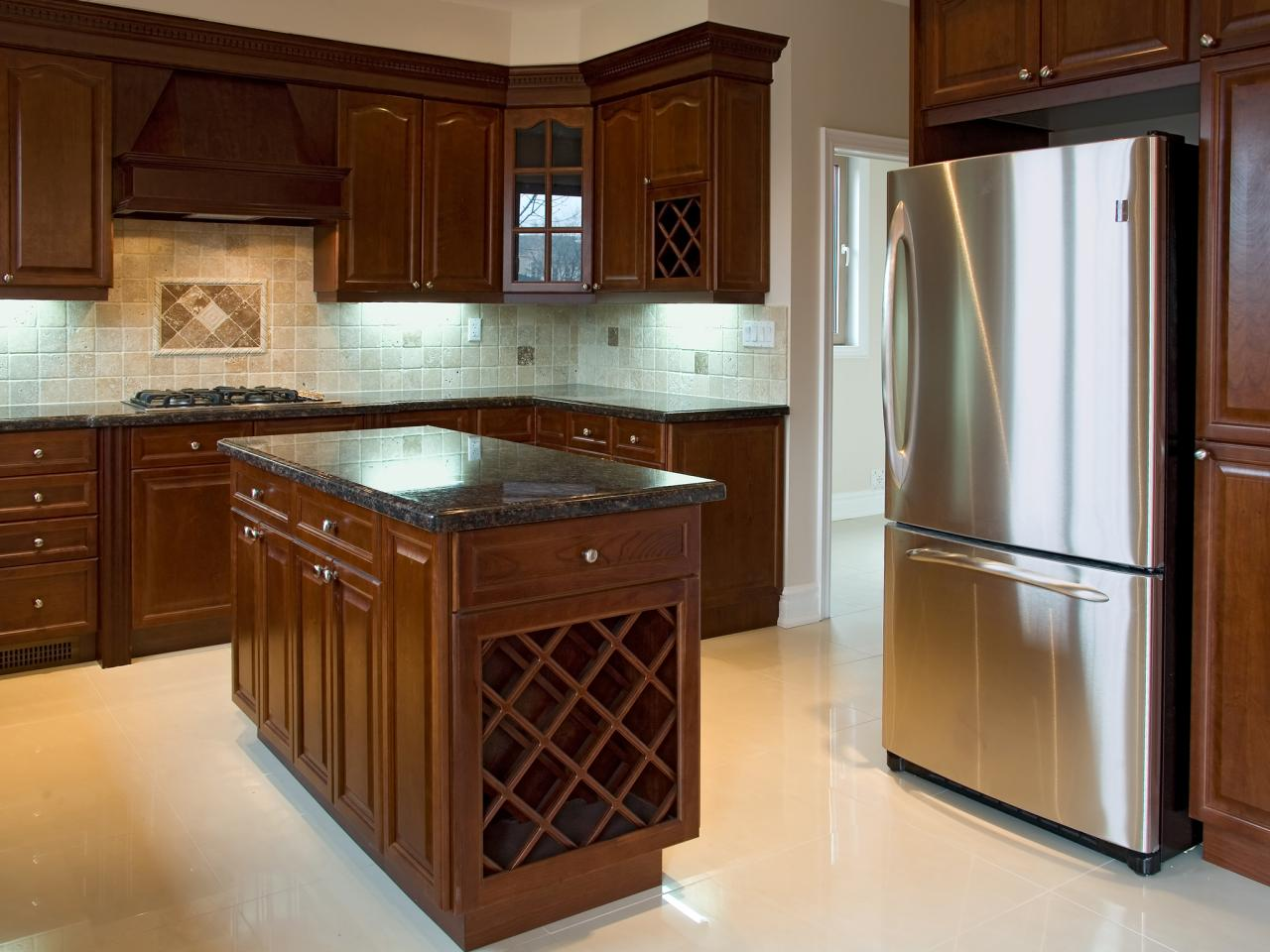contemporary kitchen with bamboo cabinetry - In Style Kitchen Cabinets