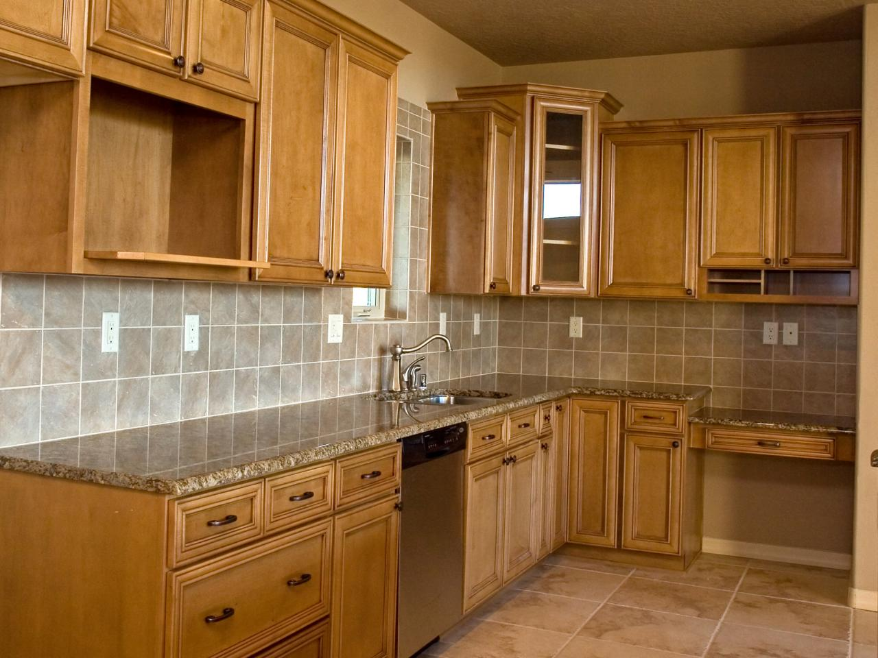 Kitchen cabinet colors and finishes pictures options for Finished kitchen cabinets