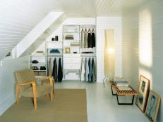 White Attic Closet