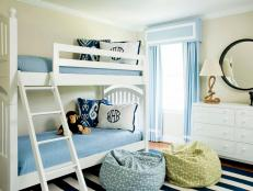 Classic Blue And White Bunk Room