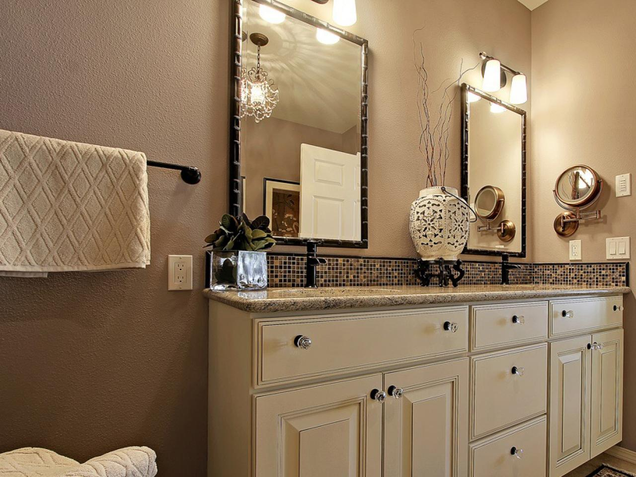 Bathroom vanity accessories hgtv for Bathroom vanity accessories