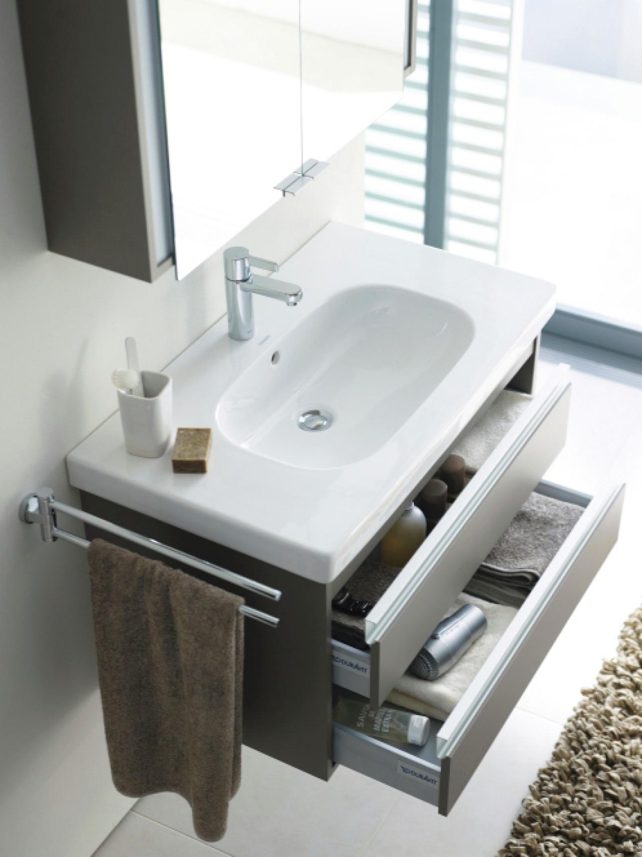 Choosing a bathroom vanity hgtv - Bathroom cabinets for small spaces plan ...