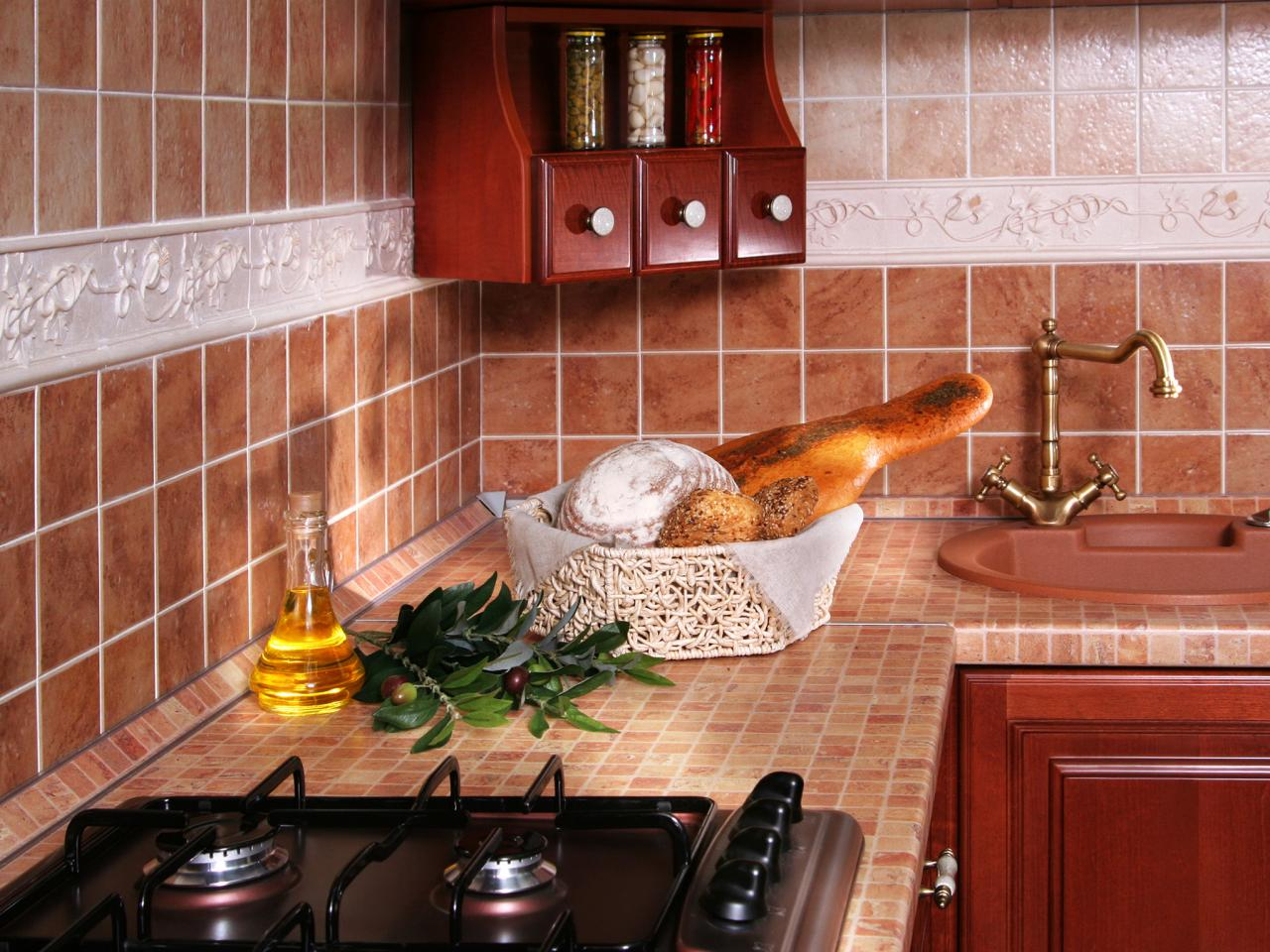 Tiled kitchen countertops hgtv for Kitchen ideas with porcelain countertops