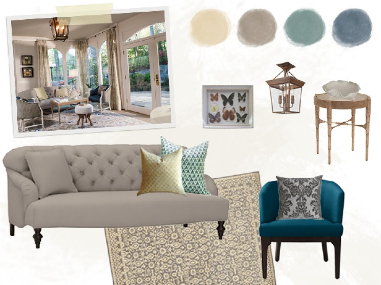 Floor planning a small living room hgtv Best colors for small spaces