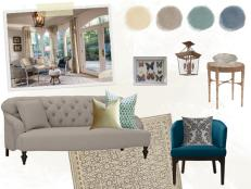 Mood Board for Neutral Cottage Morning Room