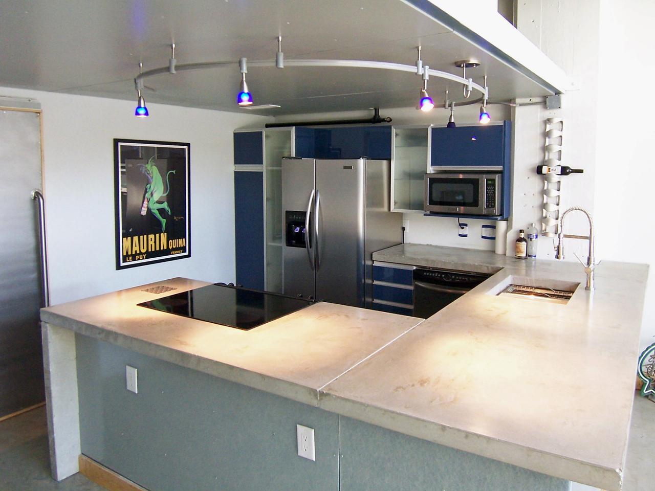 Modern Kitchen Counter black marble countertops Concrete Kitchen Countertops
