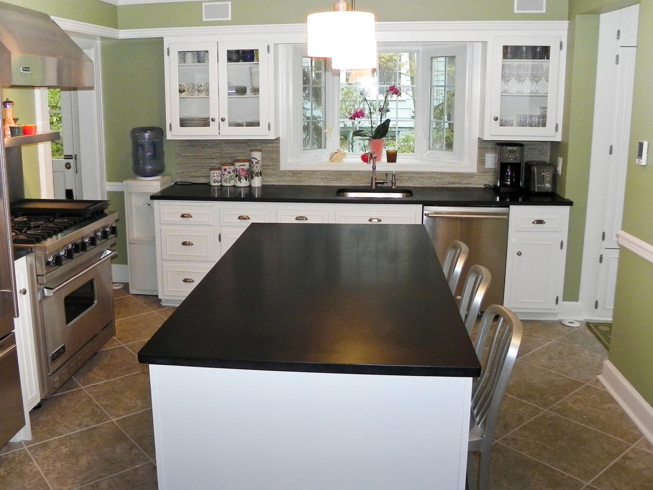 Dark granite countertops hgtv White kitchen cabinets with granite countertops photos