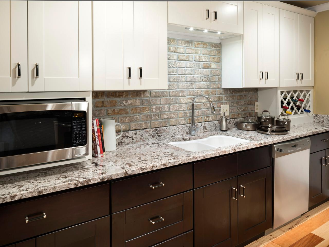 Granite countertop colors hgtv White kitchen cabinets with granite countertops photos