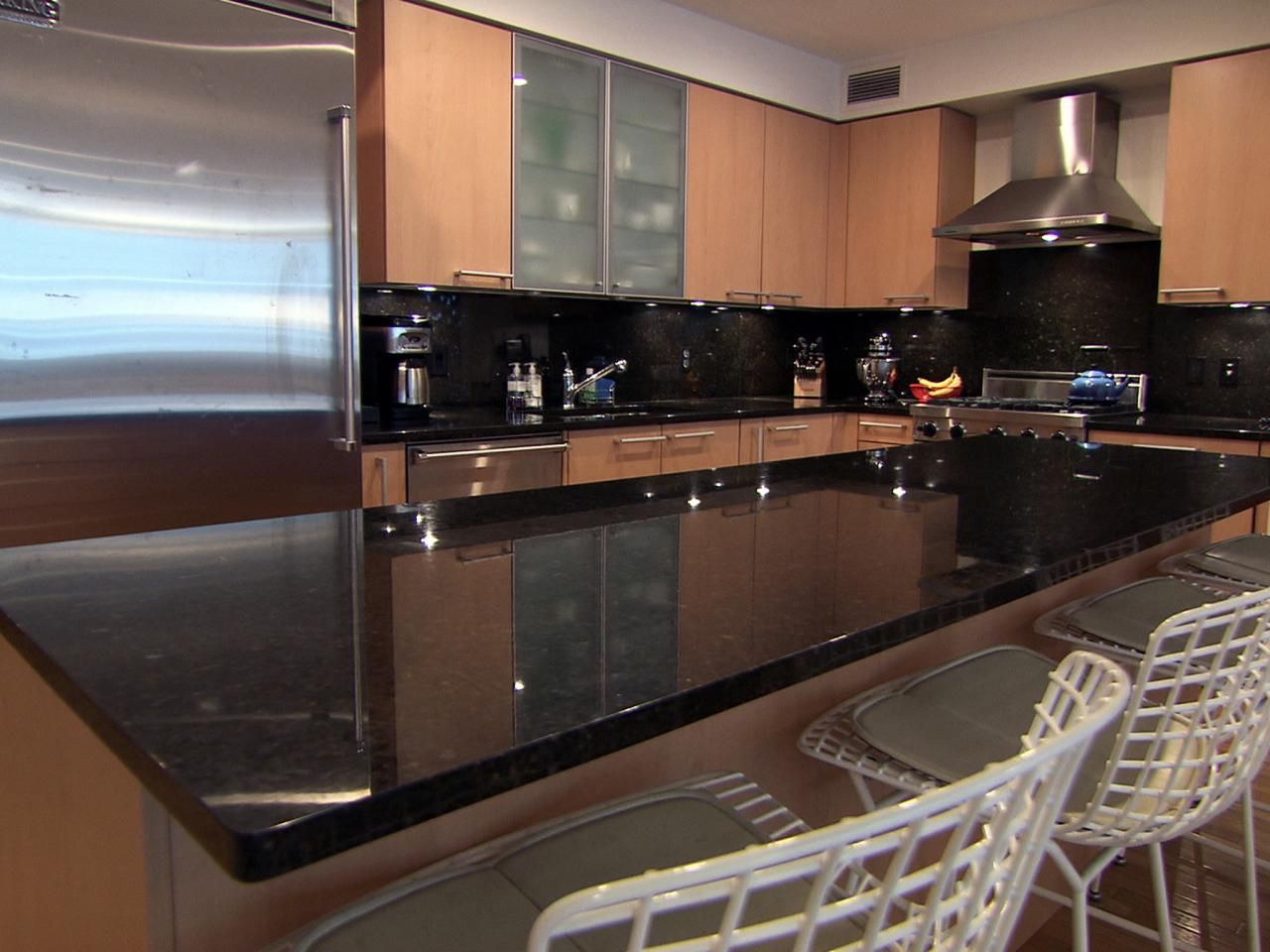 large marble kitchen countertop