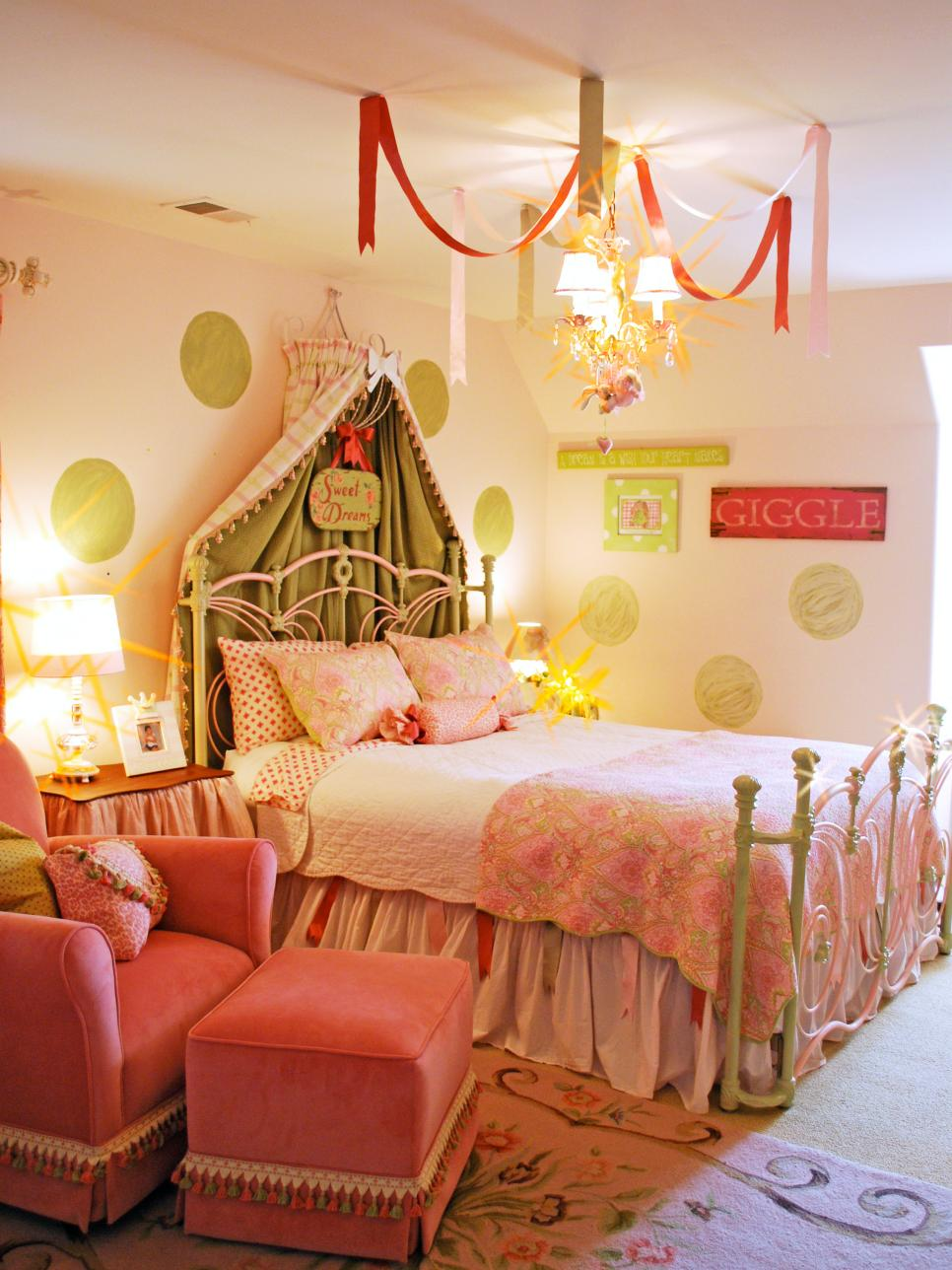 PrincessInspired Girls Rooms HGTV - Disney princess girls bedroom ideas