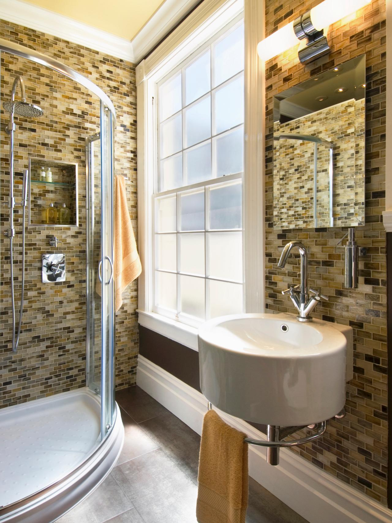 Small bathrooms big design hgtv for Hgtv small bathroom design ideas