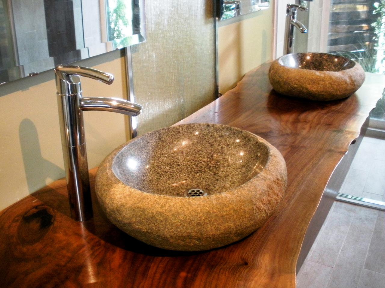 Vessel sinks hgtv for Bathroom sinks designs