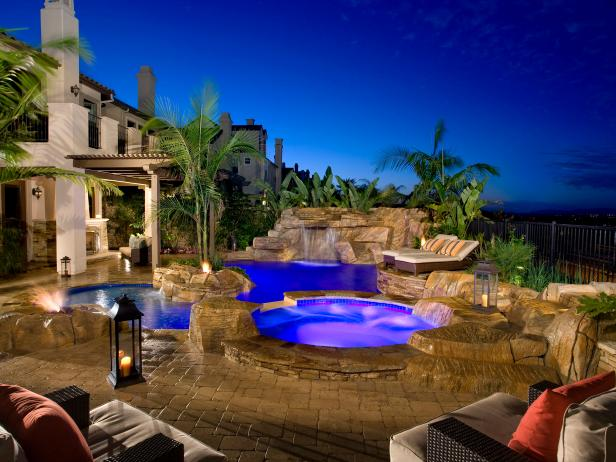 Swimming pool designs and water feature ideas hgtv for Epic pool show