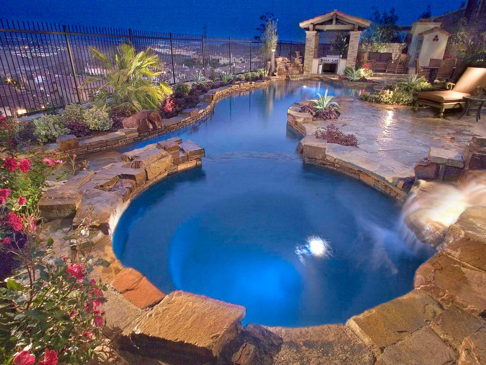 Dreamy pool design ideas hgtv for Backyard swimming pools