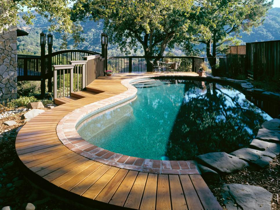 10 pool deck and patio designs hgtv Deck design ideas