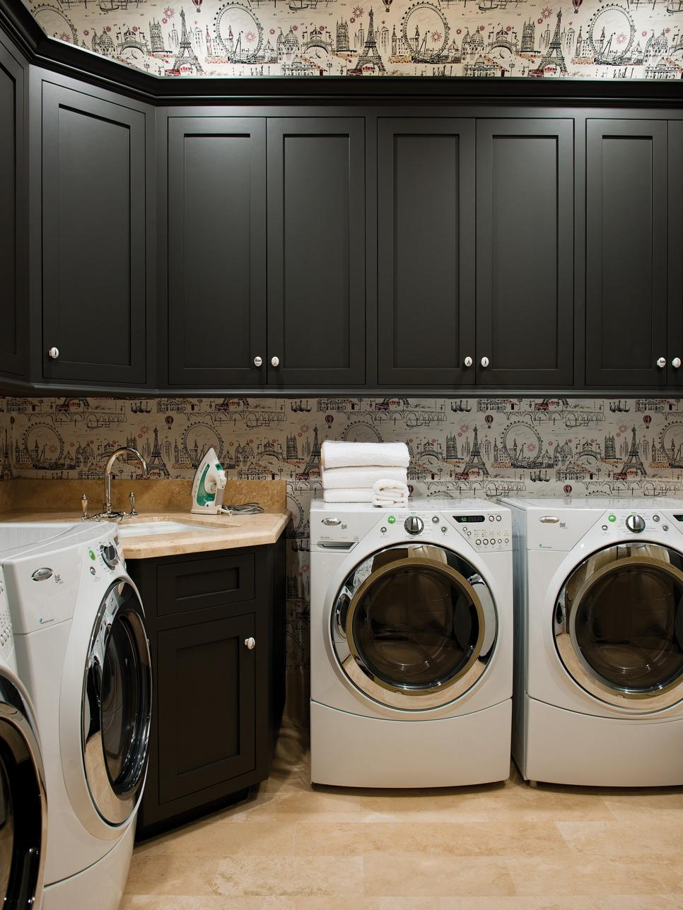Decor and storage tips for basement laundry rooms hgtv - Laundry room design ideas ...