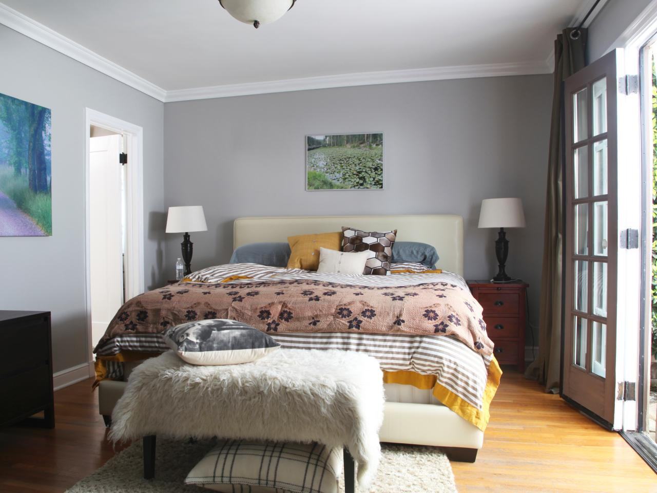 Gray master bedrooms ideas hgtv for Bedroom ideas in grey