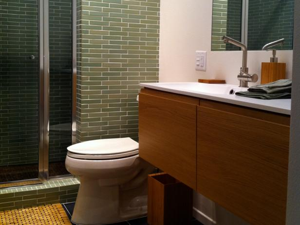 midcentury modern bathrooms | hgtv