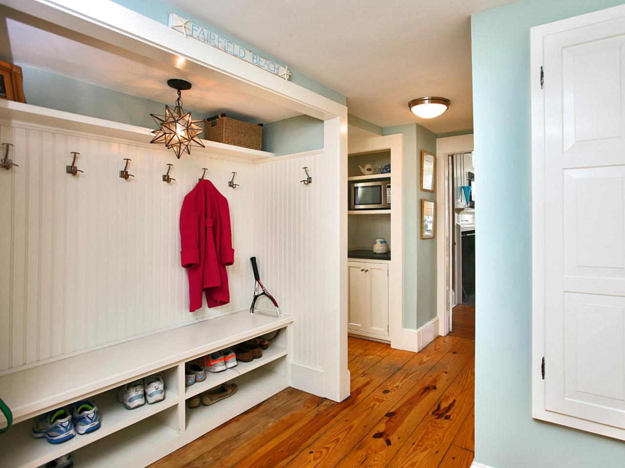 Mudroom Shoe Storage Option