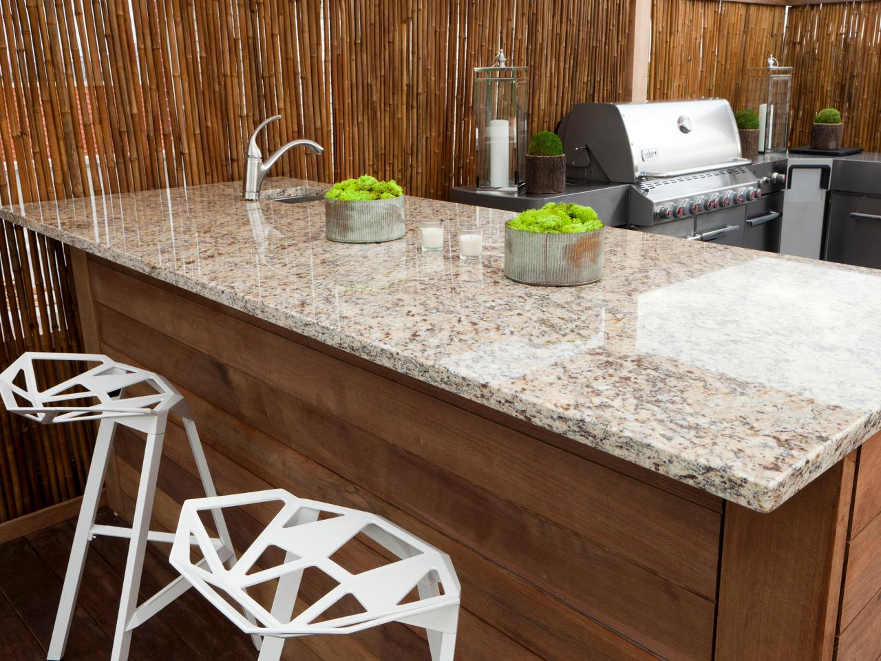 Non Granite Kitchen Countertops Outdoor Kitchen Countertops Pictures Tips Expert Ideas Hgtv
