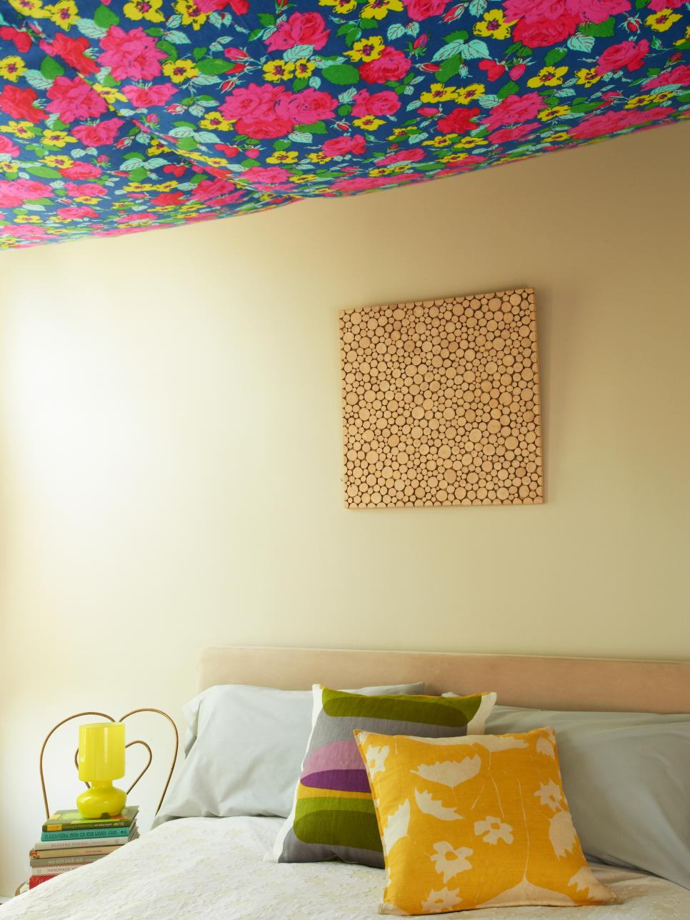 Hang Floral Fabric On Your Ceiling Hgtv