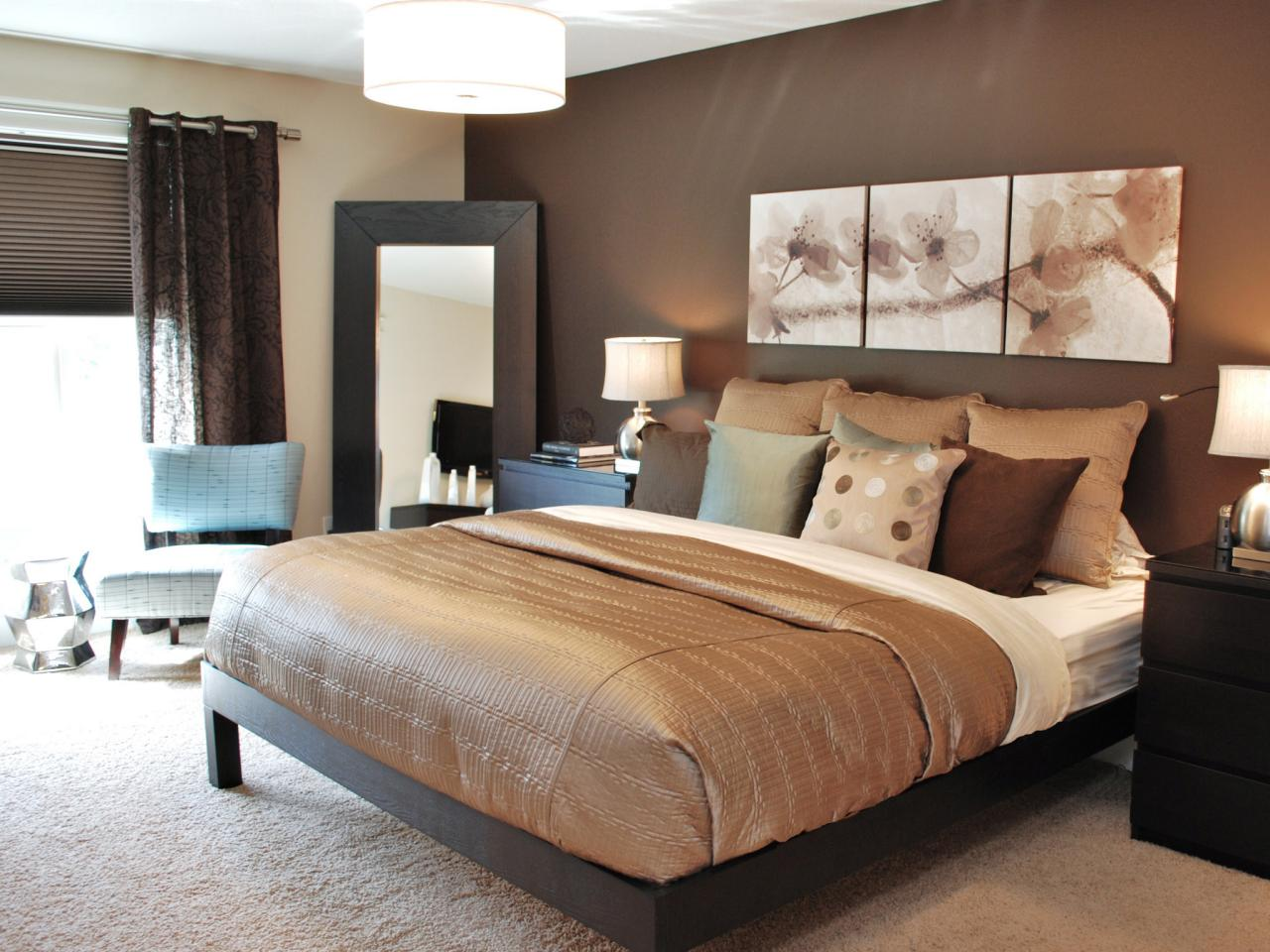 Dark Blue And Brown Bedroom master bedroom paint color ideas | hgtv