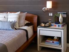 Contemporary Bedroom Nightstand With Reading Light