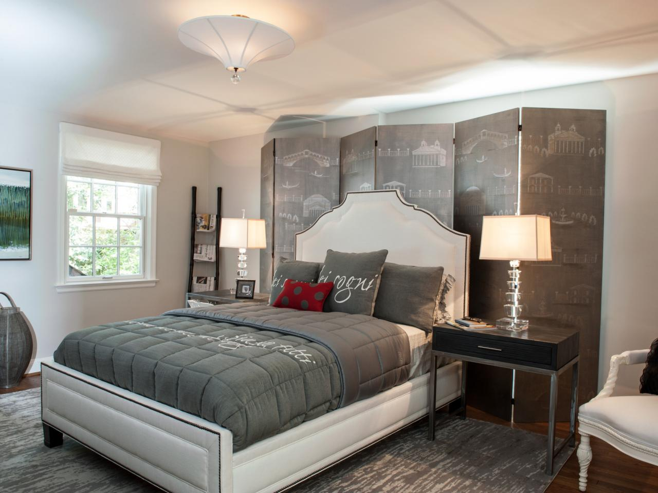 Gray master bedrooms ideas hgtv for Master bedroom designs