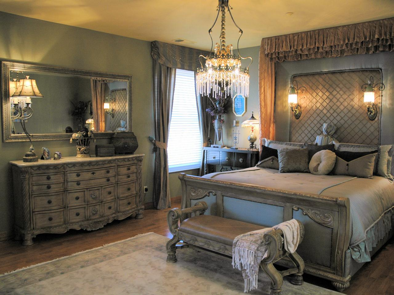 Romantic bedroom lighting hgtv for Interior design styles master bedroom