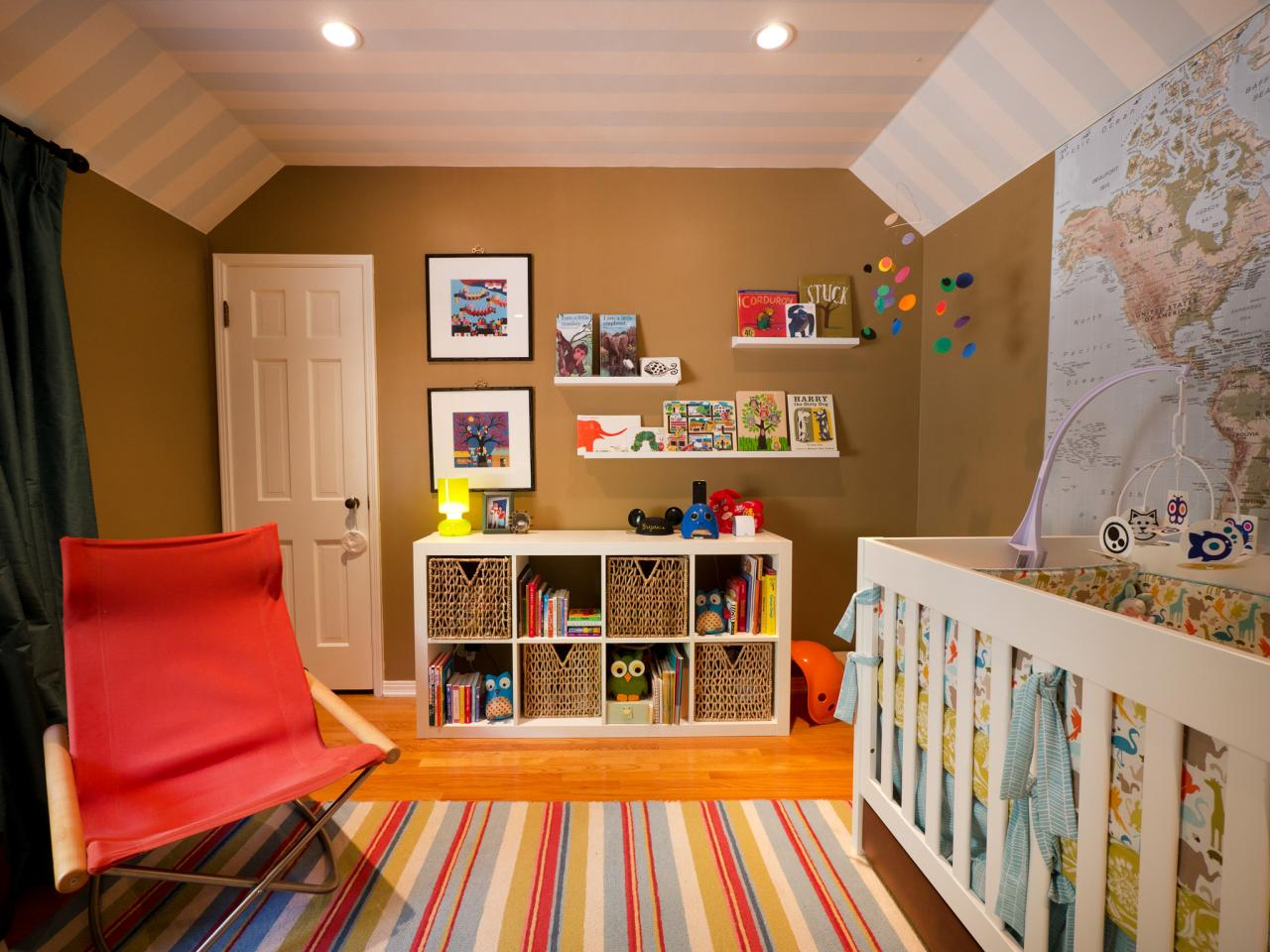 blue and orange nursery - Bedroom Colors Red