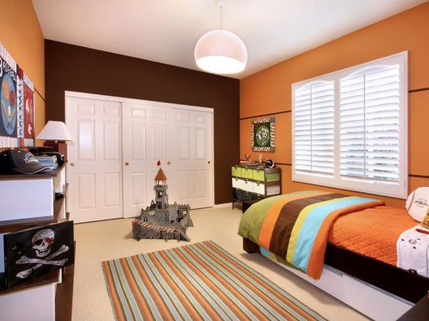 Orange bedrooms pictures options ideas hgtv for Room design 4x3