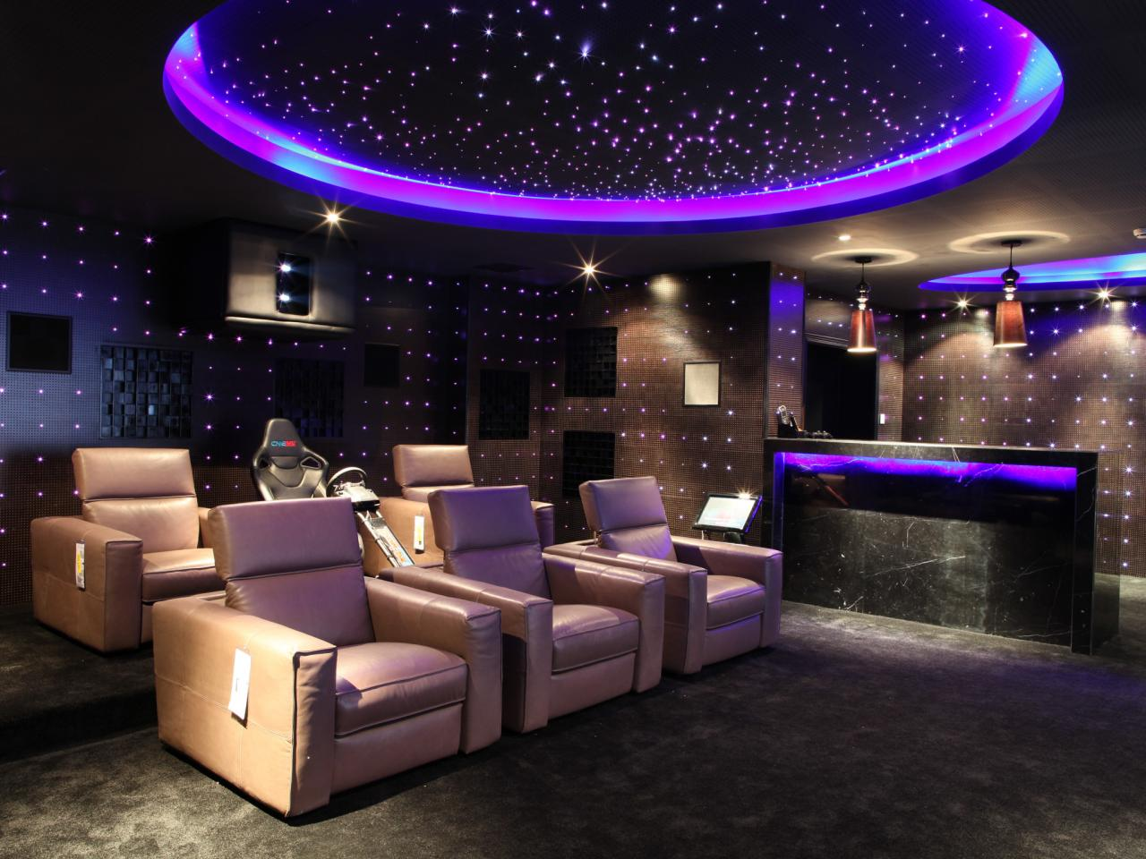 Home Cinema Design Cool Home Theater Design Ideas Pictures Tips & Options  Hgtv Design Decoration