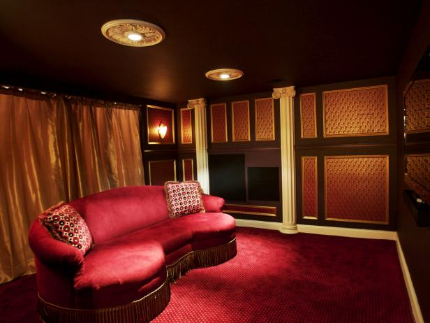 Basement home theater ideas pictures options expert Home theater colors