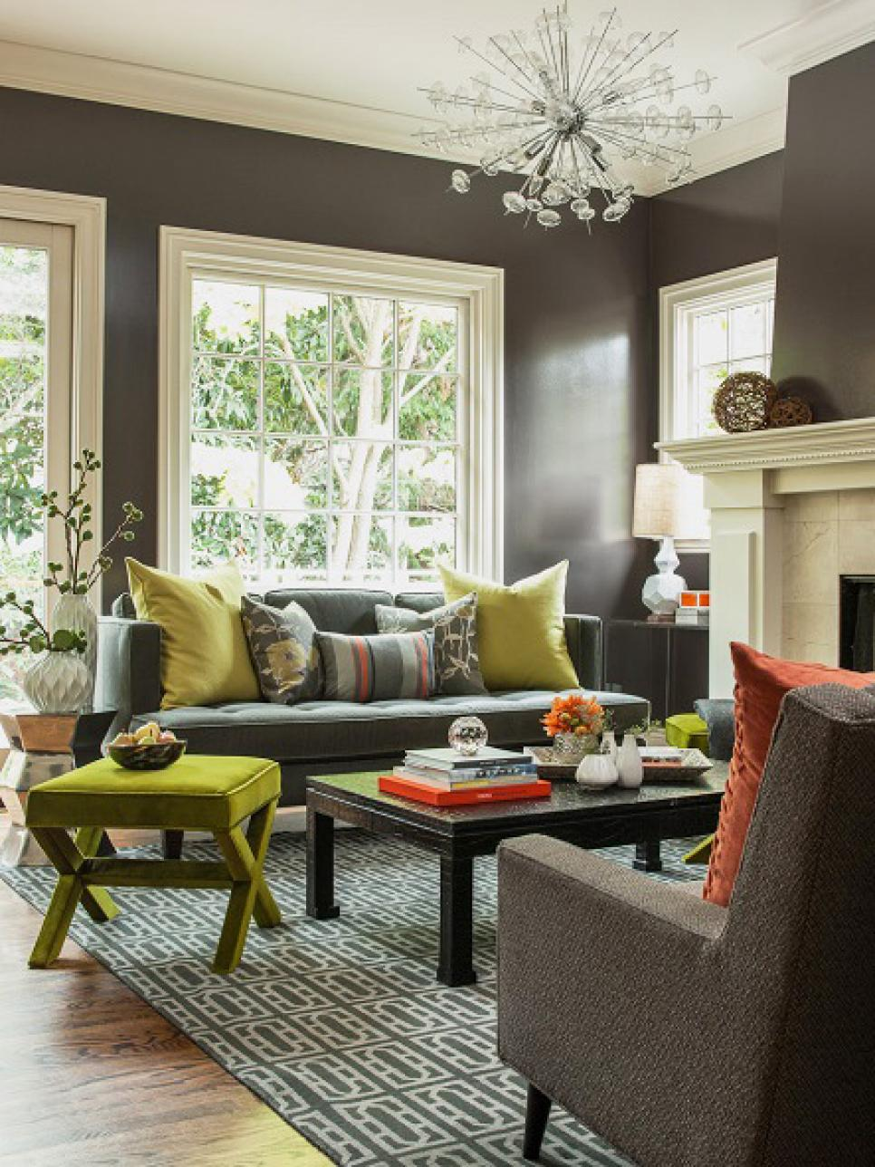 Nice Colors For Living Room Living Rooms That Pop With Color Hgtv