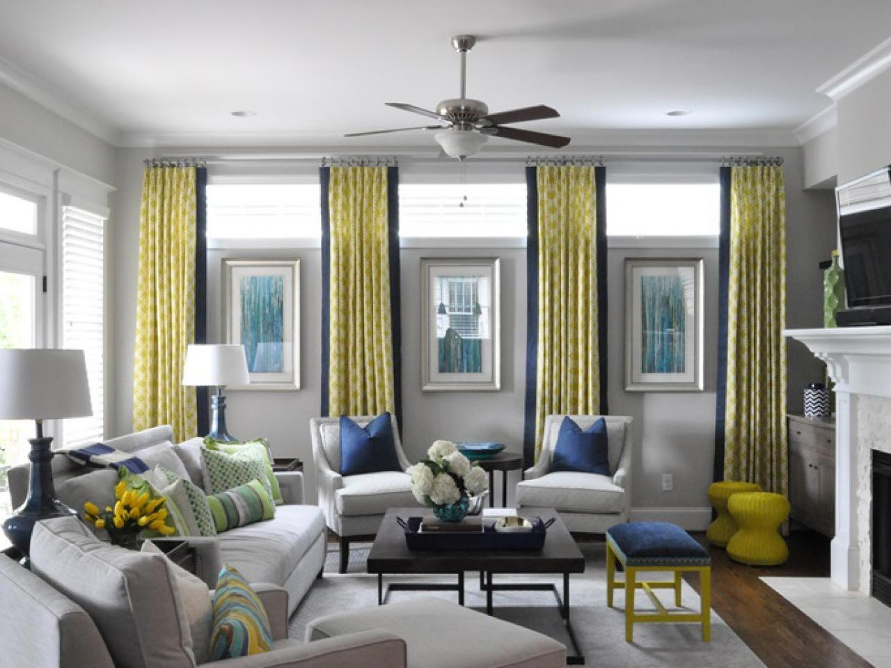 Green and yellow living room - Color Theory And Living Room Design