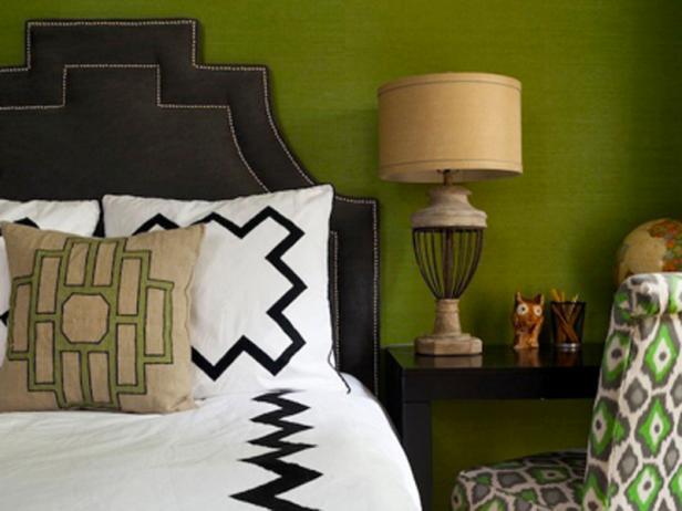 Bedroom With Desk Doubling as Nightstand