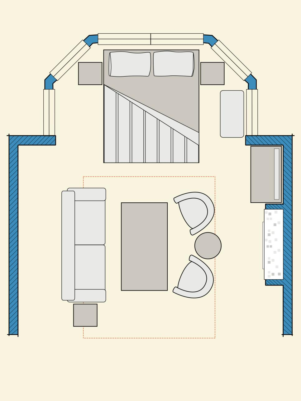 Bedroom floor plans hgtv for 4 bedroom layout design